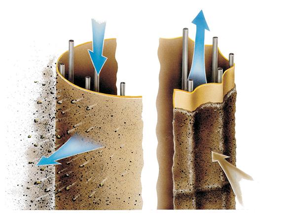 Scheuch hot gas filter and emc technology illustration